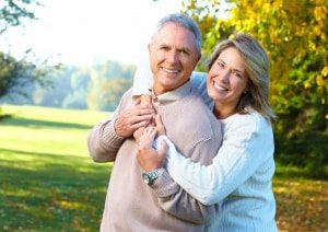 Older couple with good health